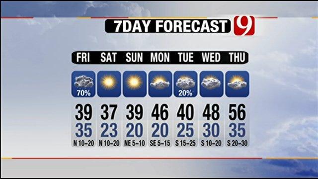 Oklahoma Motorists To Encounter Some Snow, Rain For Holiday