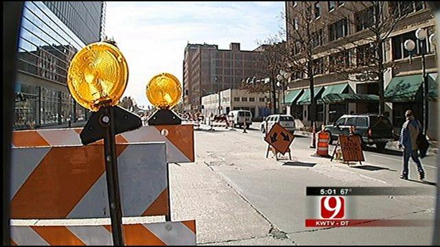 Downtown OKC Road Work Wrecks Profits, Patience