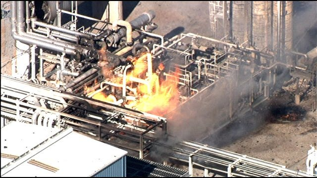 Explosion Sparks Fire At Plant Near Rush Springs