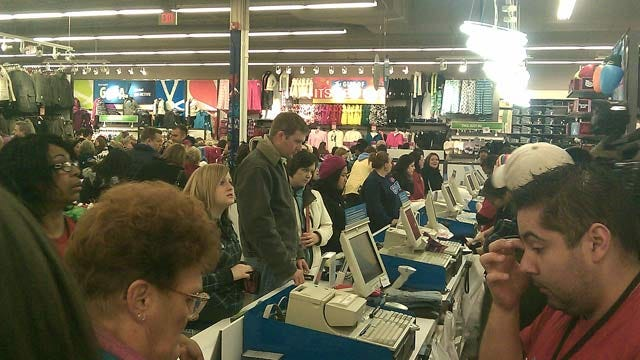 Black Friday Draws Crowds Of Holiday Shoppers