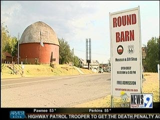 Work Reportedly Resumes on Billboard in Front of Round Barn