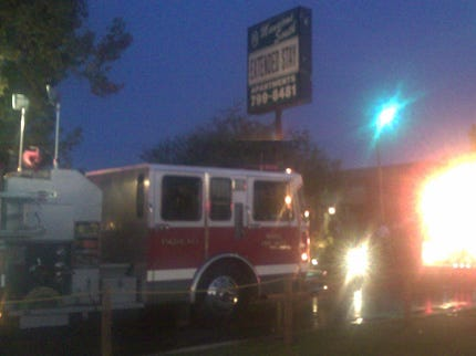 Firefighters Battle Moore Apartment Fire