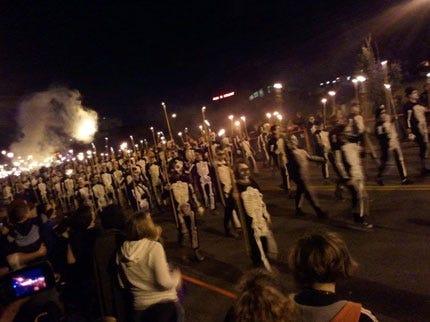 Skeletons Invade Downtown Oklahoma City for Halloween Bash