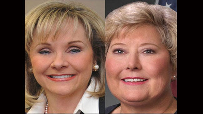 Askins, Fallin Square off at Business Forum