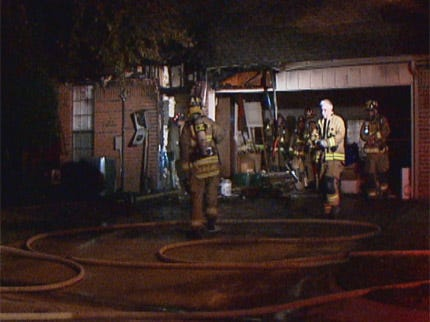Oklahoma City Firefighters Battle Early Morning House Fire