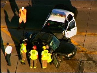 Moore Police Officer Involved in Crash