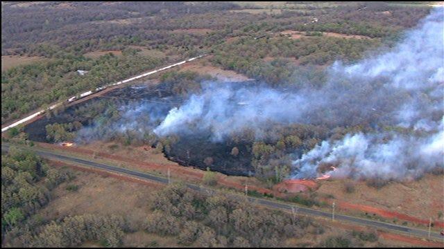 Grassfire Breaks Out Near Lexington