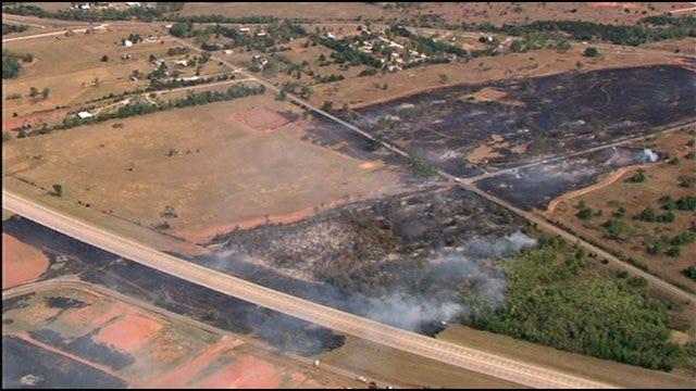 Grassfire Near Elgin Destroys Building, Temporarily Closes Part Of I-44