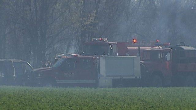 Small Grassfire Burns 10 Acres Near McLoud