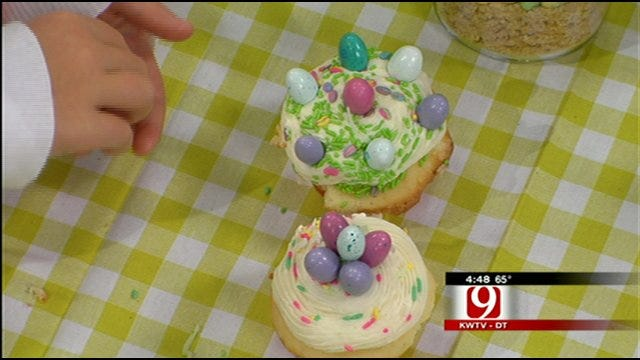 Easter Coconut Cupcakes with Vanilla Bean Cream Cheese Frosting