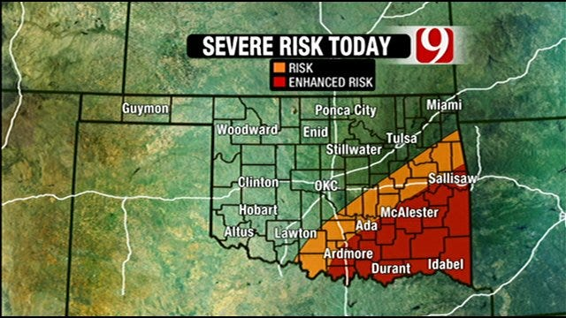 Severe Weather Possible Friday In OKC, Southern Oklahoma