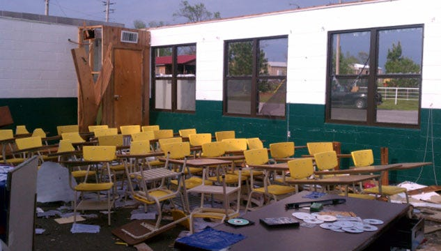 Tushka Students Head Back To Class After Tornado Rips Through Town