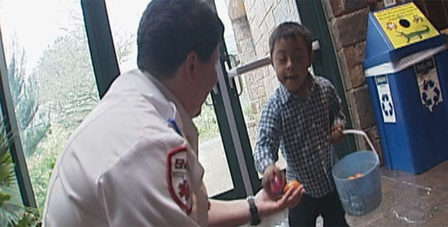 Paramedics Bring Joy To Special Needs Children On Easter