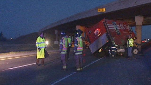 Driver Injured After Crash On I-40 In Yukon