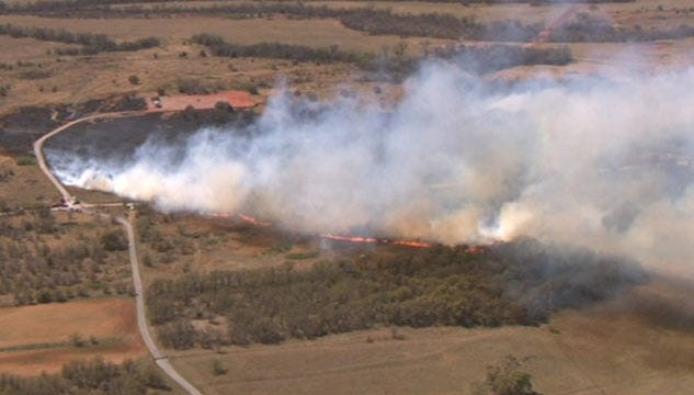 2 Wildfires Started Near Alex Believed To Be Arson