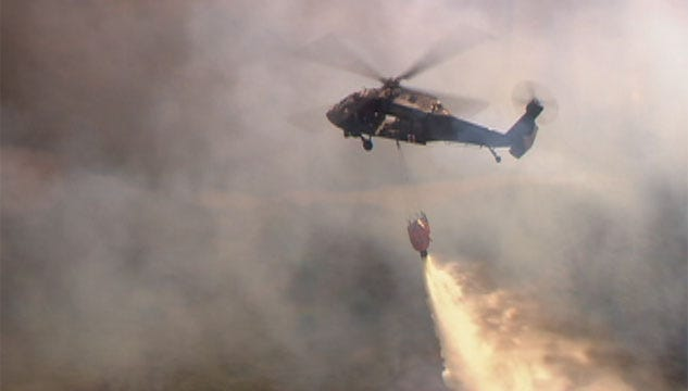 Black Hawk Helicopters Had No Delay For Spencer Fire Response