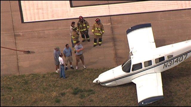 Plane Goes Off Runway In Northwest Oklahoma City