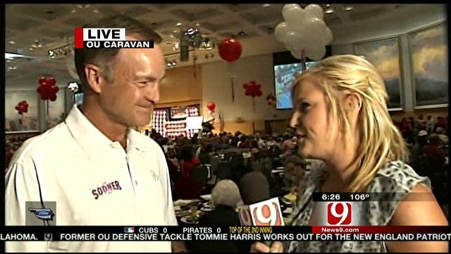 Sooner Caravan Stops In Oklahoma City