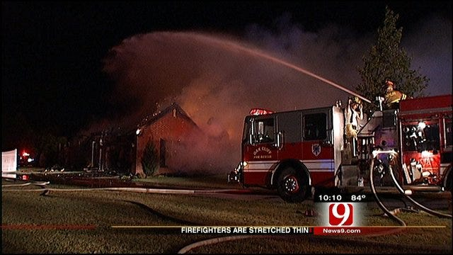 Heat, Grass Fires Stretch Fire Departments Thin