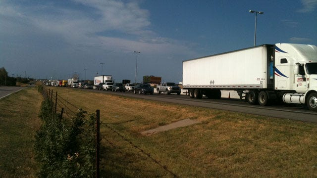 I-35 Lanes Re-Open After Trash Truck Collision In Norman