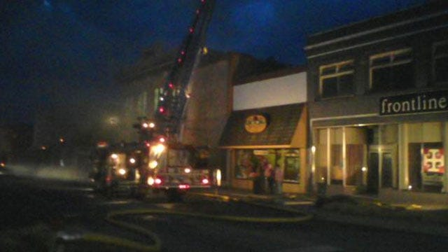 Early-Morning Fire Destroys Business In Downtown Shawnee