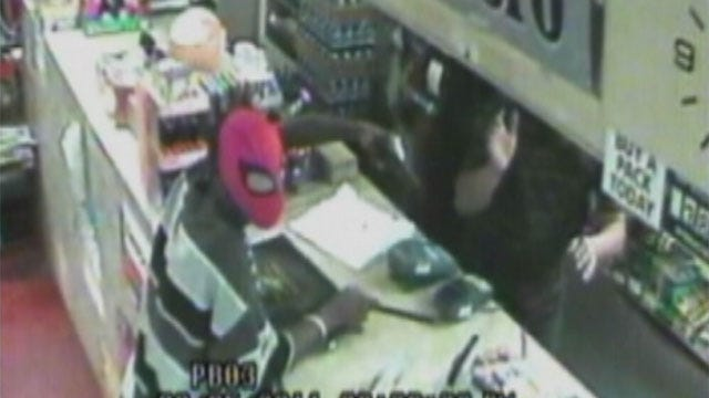 Man In Spider-Man Mask Robs OKC Convenience Store