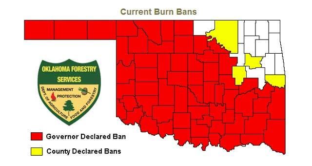 Governor Fallin Lifts Burn Ban In 16 Oklahoma Counties