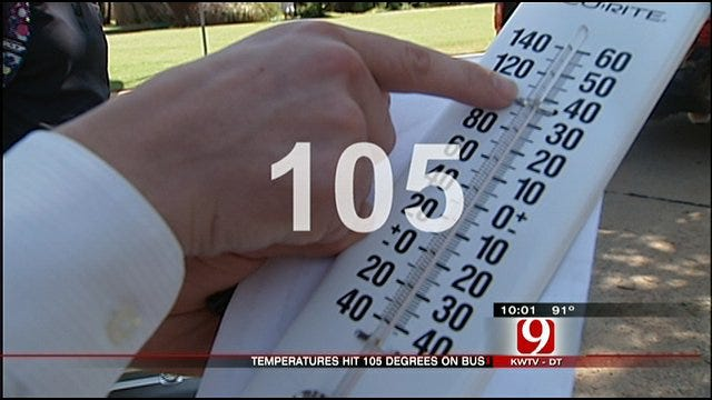 News 9 Tests Temperature on OKC School Bus