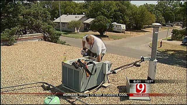 OKCPS Maintenance Crews Fix AC Problems To Keep Students Cool