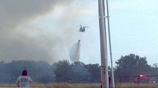 Ada Wildfire Burns One Structure