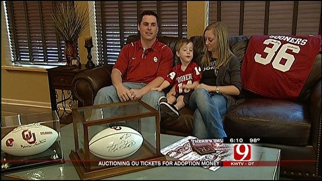 OU Fans Auction Tickets For Baby