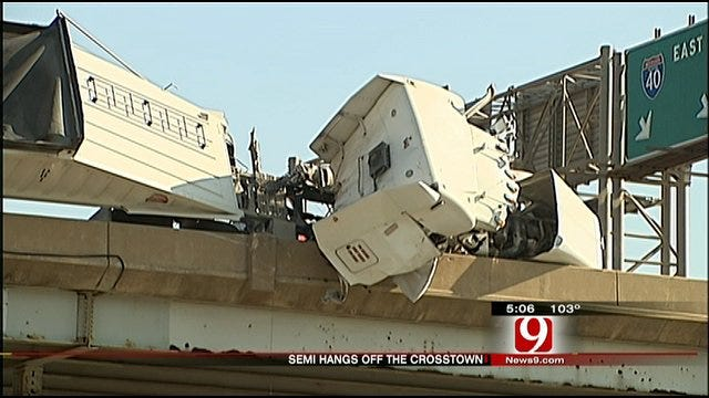 OKC Firefighter Saves Driver From Dangling Truck