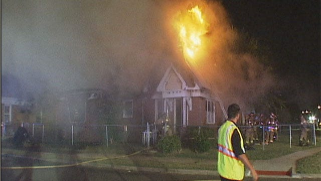 Arson May Be Behind OKC House Fire