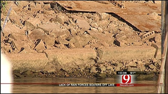 Drought Leads To Low Water Levels At Lake Hefner