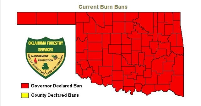Governor Expands Burn Ban To All 77 Oklahoma Counties