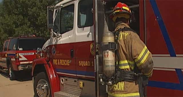 Midwest City Firefighters Battle Extreme Heat