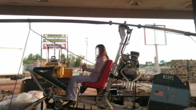 Woman Watching News Spots Stolen Gyrocopter In OKC