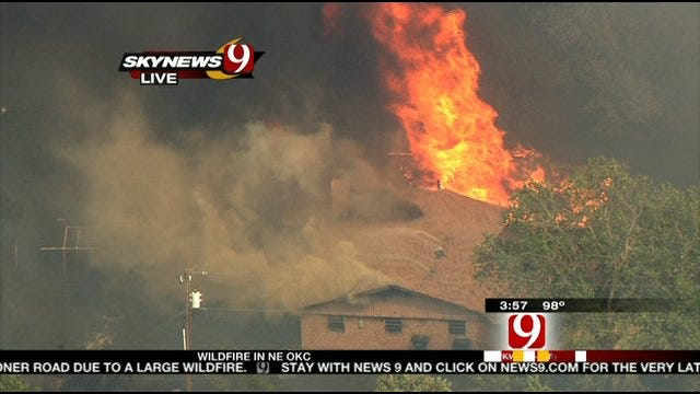 Large Wildfire Contained In Northeast OKC