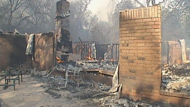 Northeast OKC Wildfire Destroys Homes, Closes Roads