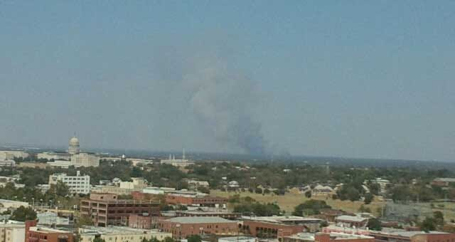 Oklahoma County Fires Close Major Roads, Keep Firefighters Busy
