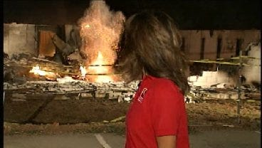 Wildfire Hot Spots Explode Behind News 9 Anchor