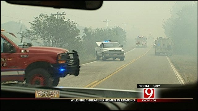 Wildfire Threatens Edmond Homes