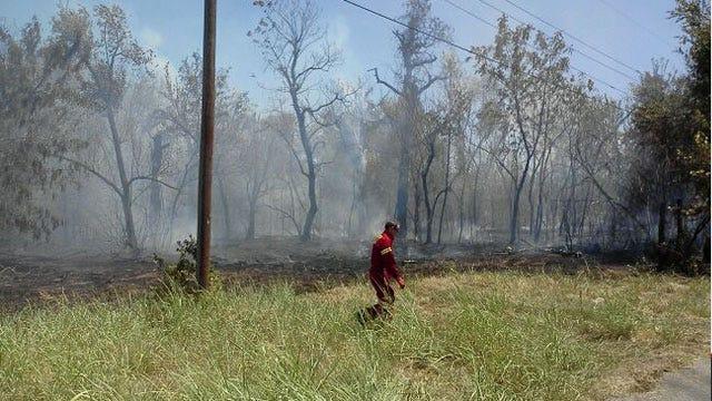 Fire Crews Gain Upper Hand On Grassfire In Jones