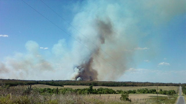 Grady County Fire Burning Out Of Control