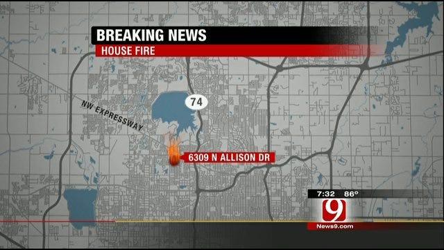 Fire Department Investigates OKC House Fire