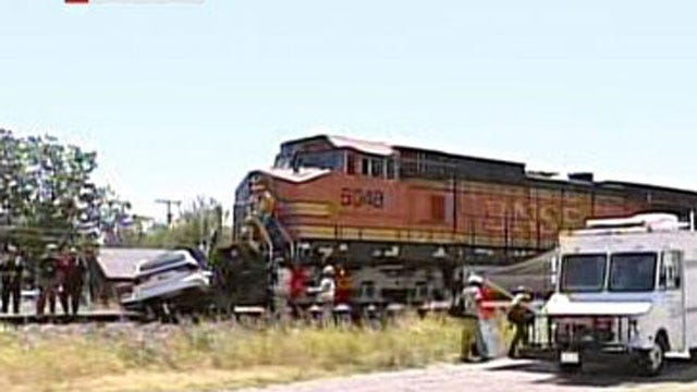 Train Slams Into Station Wagon In Moore