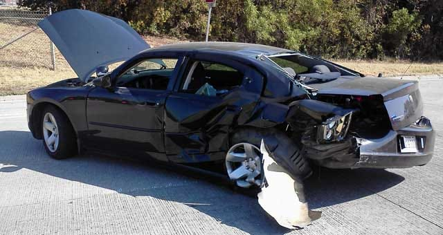 Deputy's Cruiser Smashed While Responding To Accident In OKC