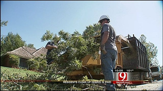 Hard-Hit Enid Cleans Up From Storm