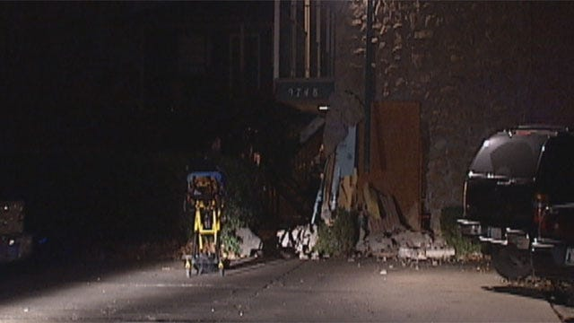 Driver Takes Off After Slamming Into OKC Apartment