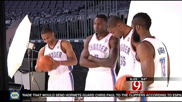 Thunder Players In Good Spirits At Media Day